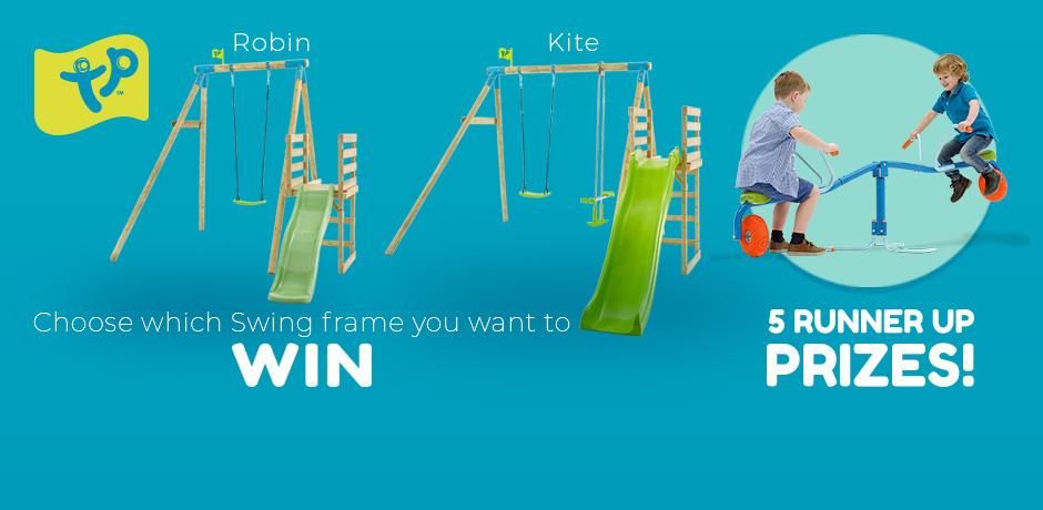 Win TP Robin Swing & Slide Set or TP Spiro Spin Seesaws @ Argos