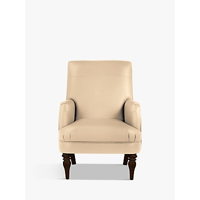 John Lewis & Partners Sterling Leather Armchair, Dark Leg Contempo Ivory £599.00 @ John Lewis & Partners