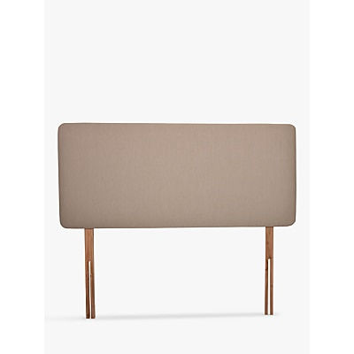 John Lewis & Partners Sonning Upholstered Headboard, Small Double Canvas Pebble £109.00 @ John Lewis & Partners
