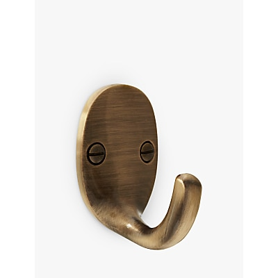 John Lewis & Partners Oval Tieback Hooks, Pair, Antique Brass  £7.00 @ John Lewis & Partners