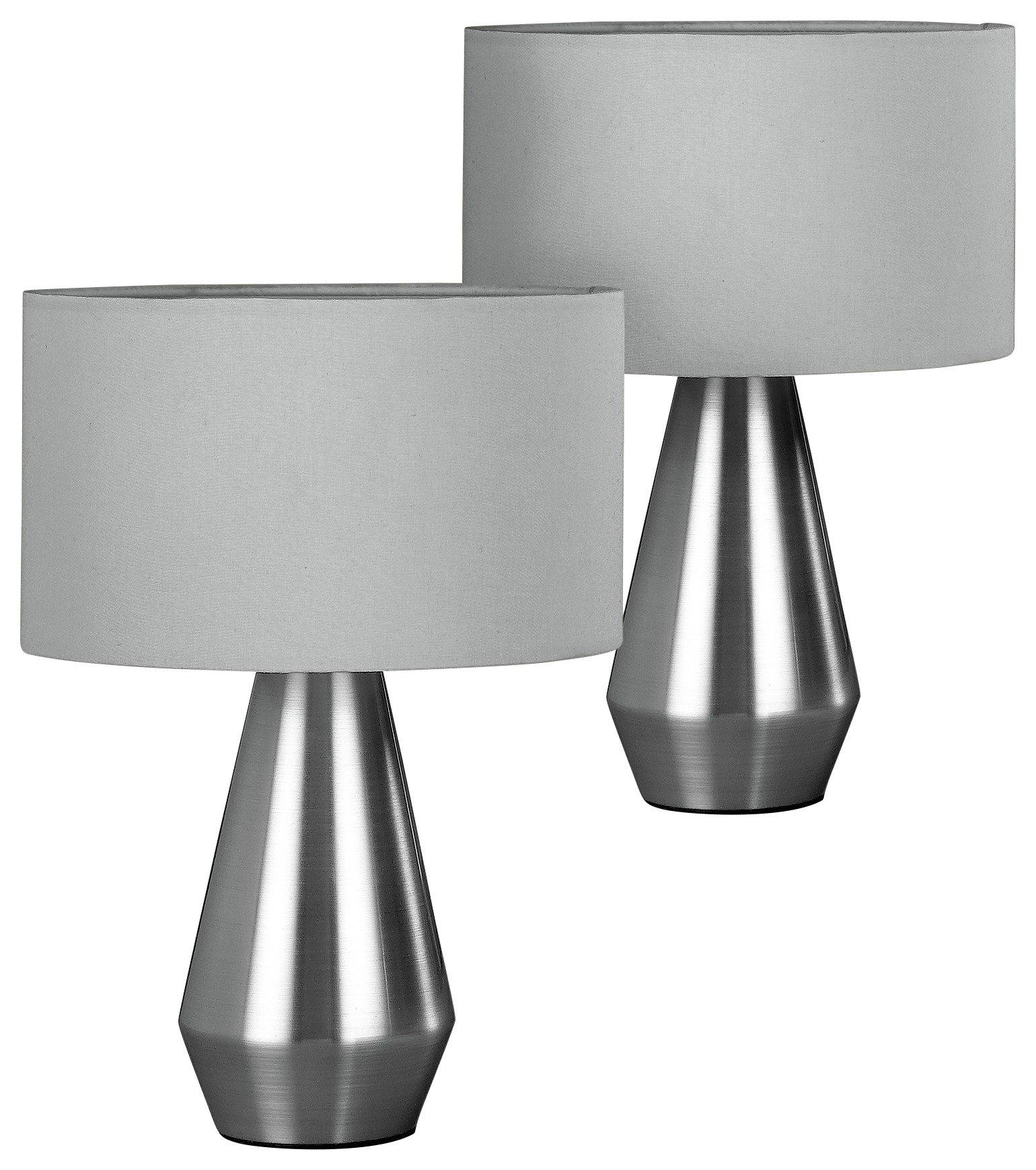 Habitat – Maya Pair of – Table Lamps – Grey £15.00 @ Argos