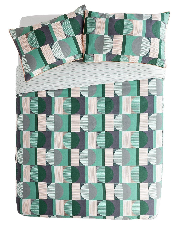 Argos Home Geo Squares Printed Bedding Set – Double £15.49 @ Argos