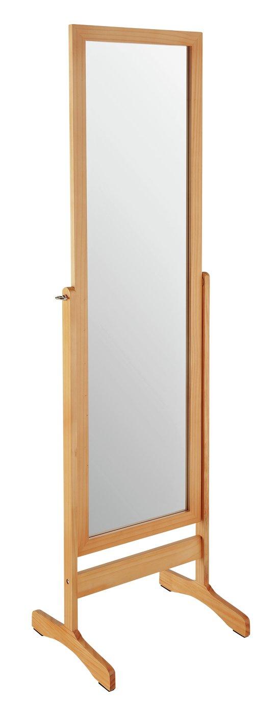 Argos Home Free Standing Cheval Mirror – Oak £30.00 @ Argos