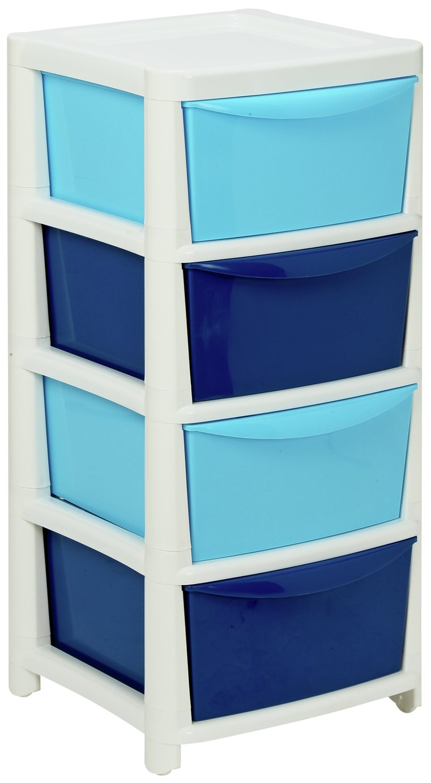 Argos Home Blue 4 Drawer Storage Tower £17.99 @ Argos