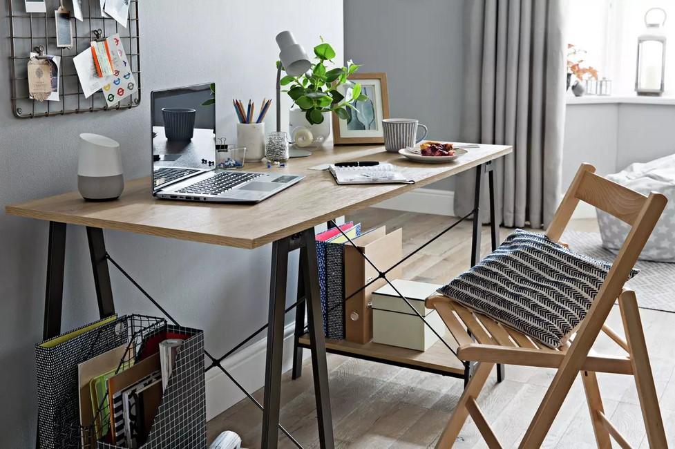 Argos Home Trestle Table Office Desk – Oak effect £70.00 @ Argos