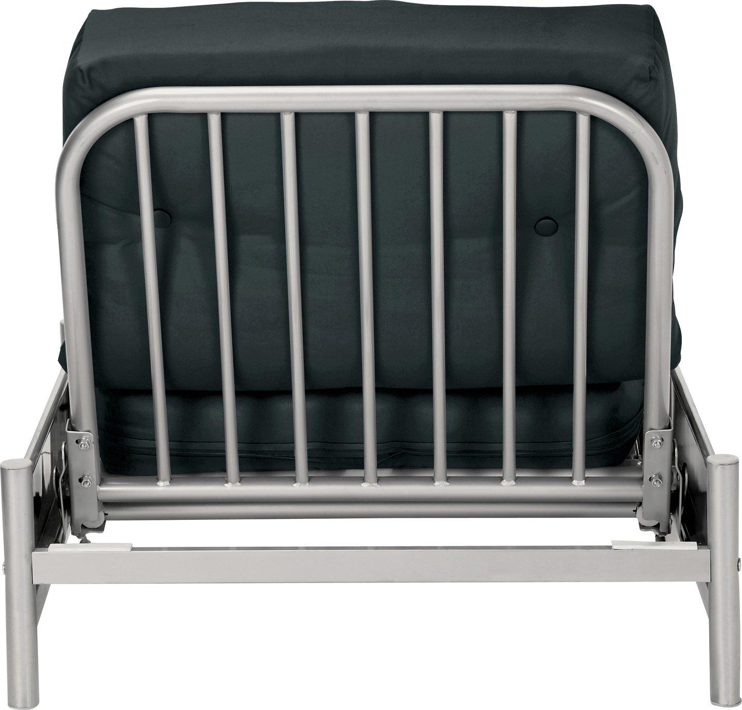 Argos Home Single Futon Metal Sofa Bed with Mattress – Black £130.00 @ Argos