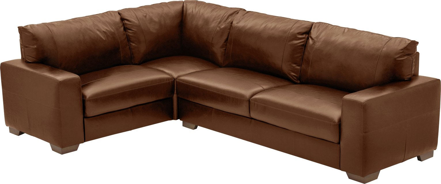 Argos Home Eton Left Corner Leather Sofa – Tan £1400.00 @ Argos