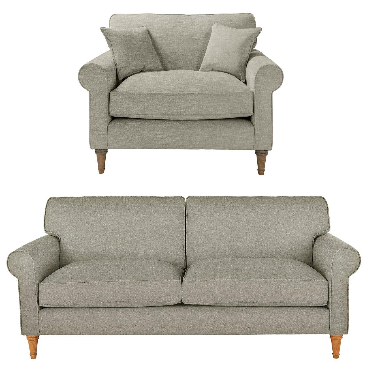 Argos Home William Fabric Chair & 3 Seater Sofa – Grey £750.00 @ Argos