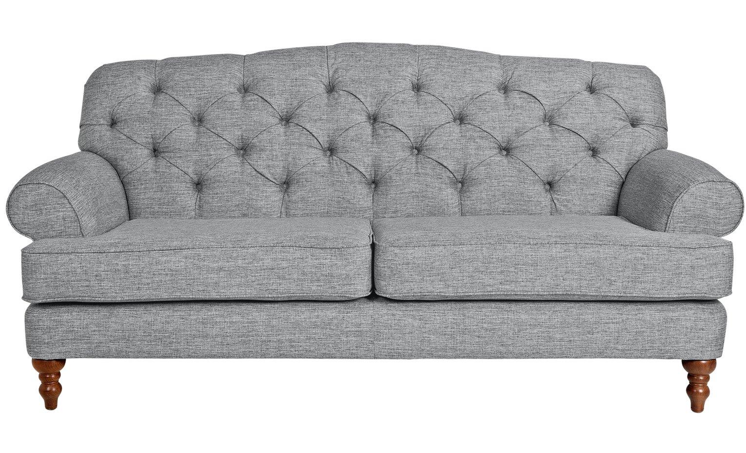 Argos Home Valerie 3 Seater Fabric Sofa – Grey £800.00 @ Argos