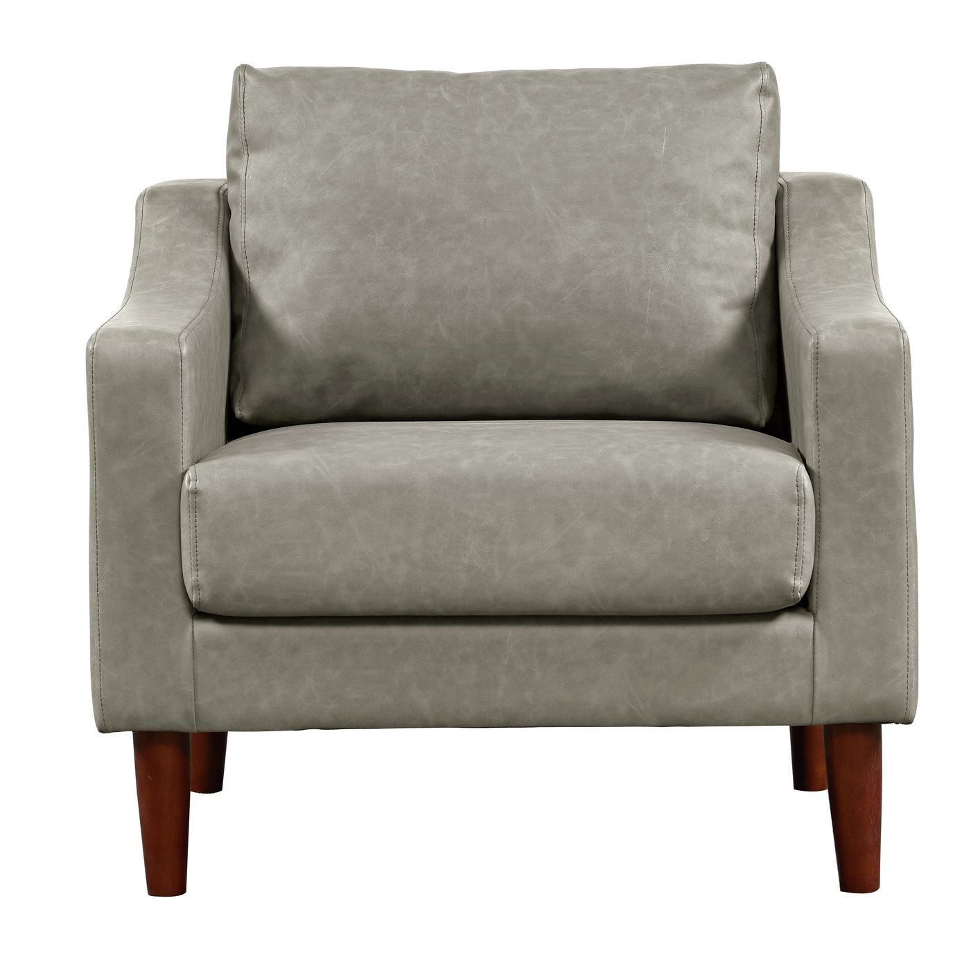 Argos Home Brixton Faux Leather Armchair – Grey £200.00 @ Argos