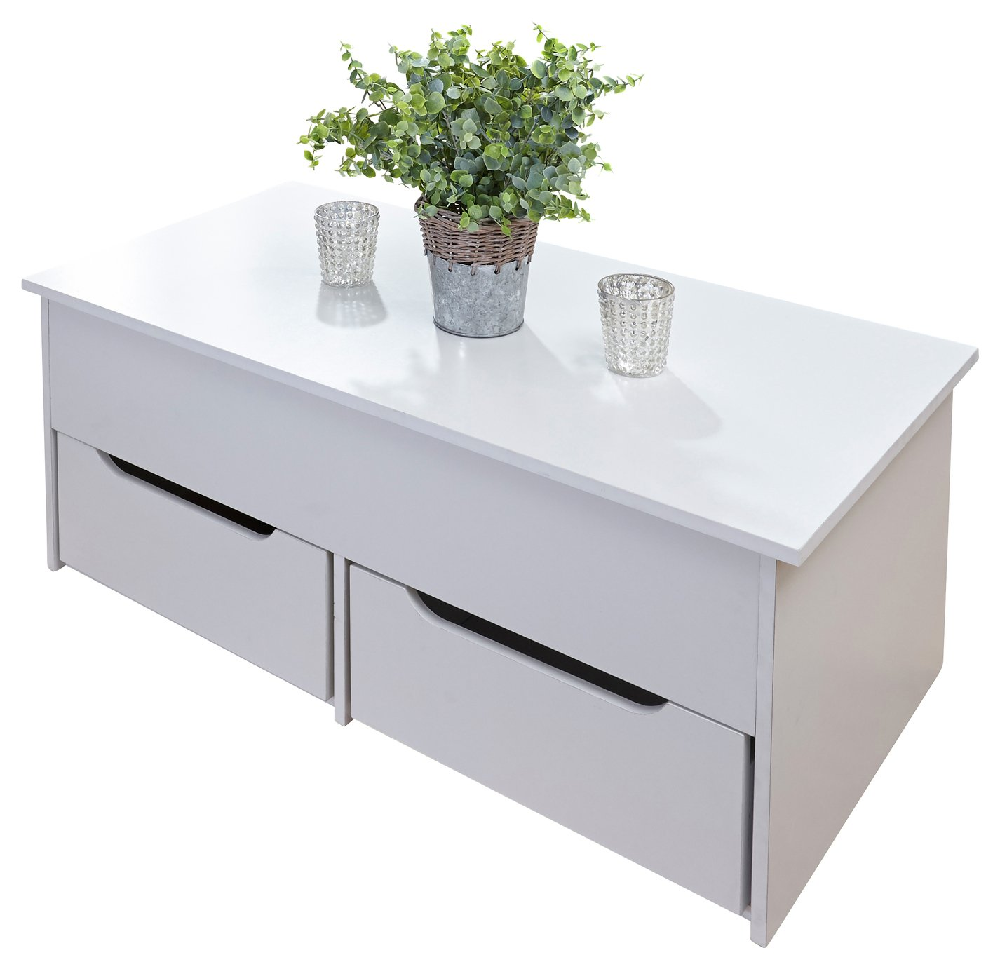 Ultimate Storage 2 Drawer Lifting Coffee Table – White £125.00 @ Argos